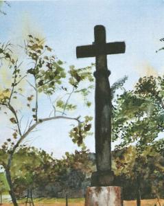 Kruis in Frankrijk - Aquarel MB